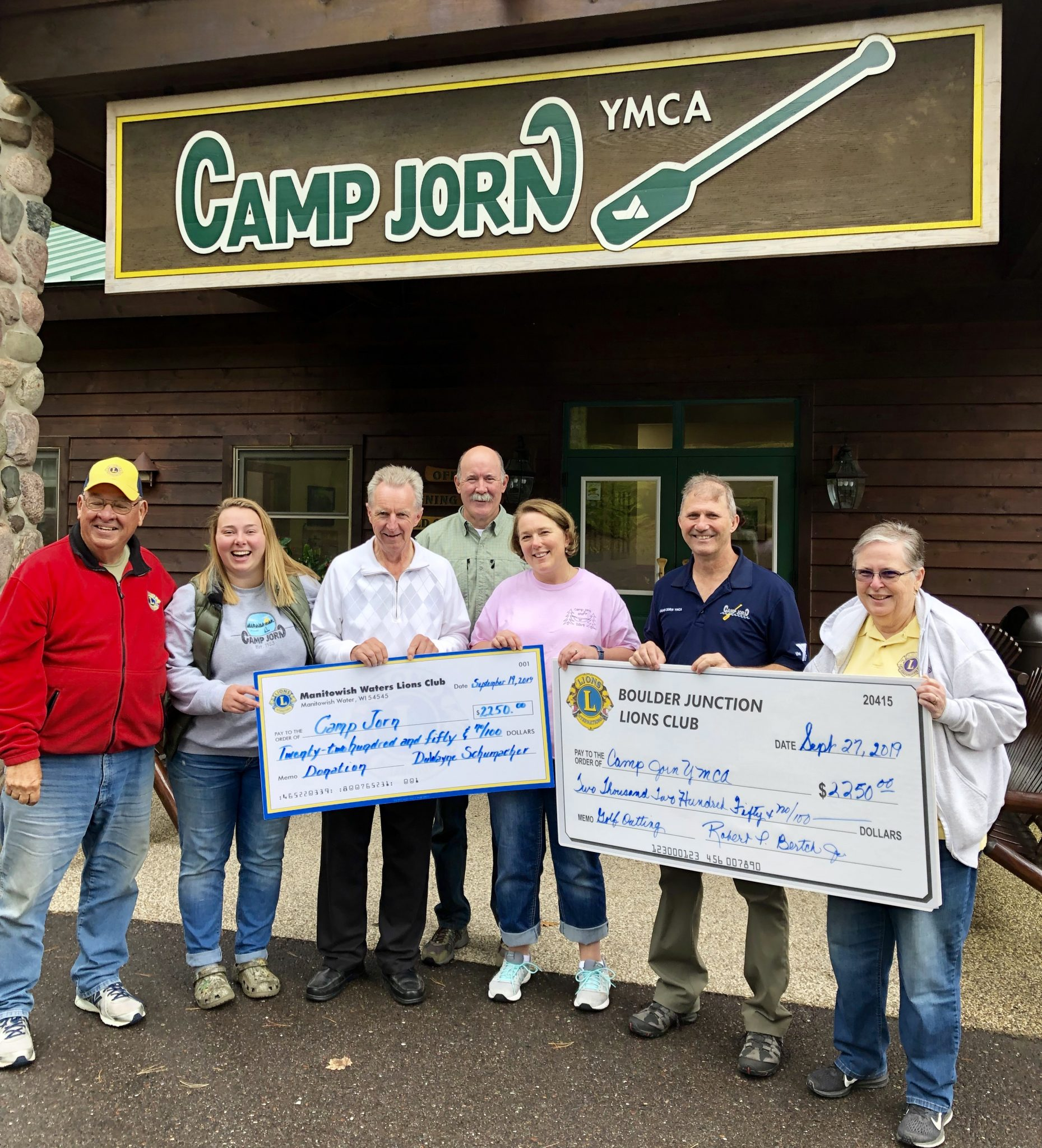 Camp Jorn Golf Outing Donation
